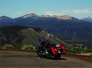 Le Rocky Mountains in moto